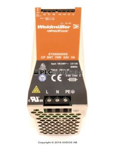 Weidmuller 8708660000  CP SNT 70W 24VDC 3A (8708660000)